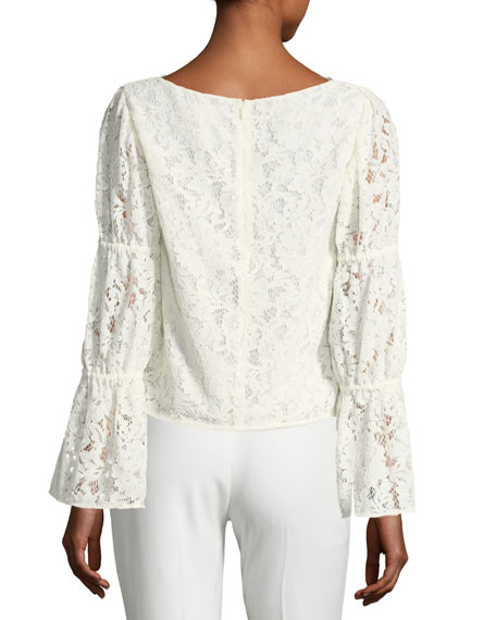 Jarne V-Neck Lace Blouse