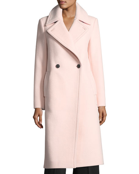 Club Monaco Daylina Double-Button Long Wool Coat