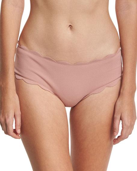 Marysia Spring Scalloped Boy-Cut Bikini Swim Bottom