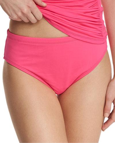 High-Waisted Tummy Toner Swim Bottom, Women's