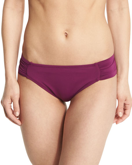 La Blanca Island Goddess Shirred-Side Hipster Swim Bottom