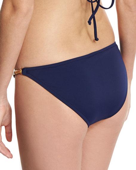 Positano Italian Solid Swim Bottom, Blue