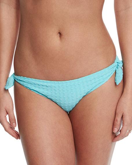 Heidi Klein Textured Tie-Side Swim Bottom, Sky