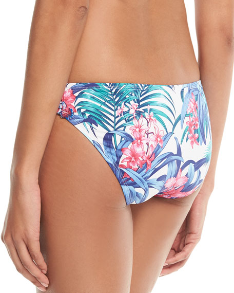 Marjorelle Side-Shirred Hipster Swim Bottoms