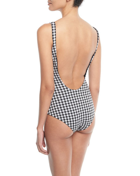 Maven Gingham One-Piece Swimsuit