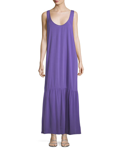 Valentina Scoop-Neck Coverup Maxi Dress