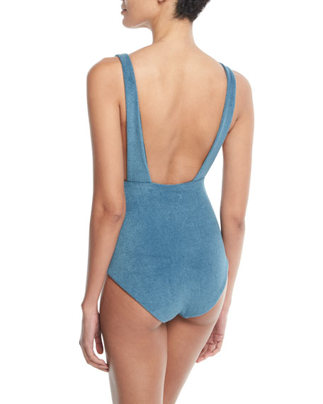 Audrey Plunging One-Piece Swimsuit