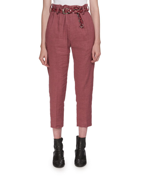 Etoile Isabel Marant Oah Rosewood City High-Waist Cropped
