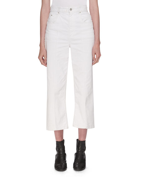 Etoile Isabel Marant Cabrio High-Waist Wide-Leg Jeans and