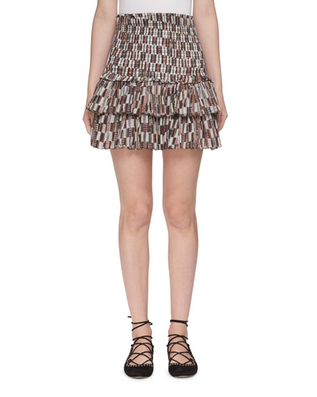 Naomi Printed Cotton Voile Skirt