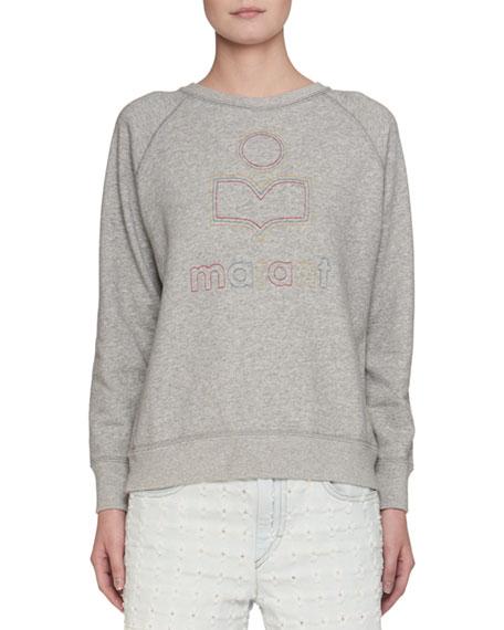 Milly Logo Patchwork Cotton Sweatshirt