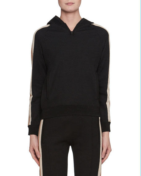 Etoile Isabel Marant Side-Stripe Pullover Sporty Knit Hoodie