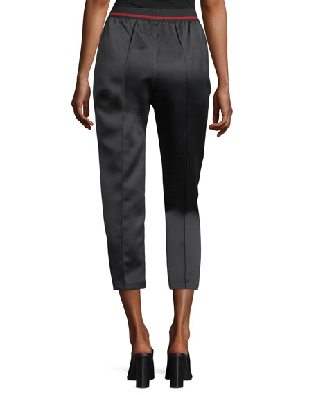 Adalwolfa Cropped Satin Pants
