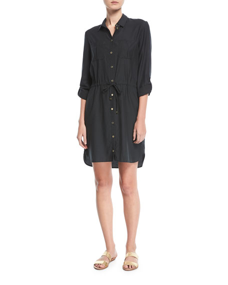 Heidi Klein Maine Mini Shirtdress Coverup