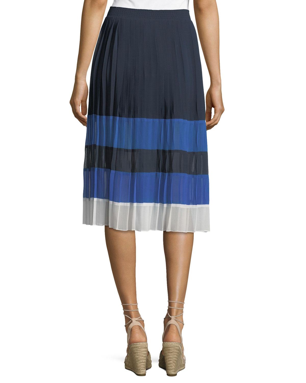 2fd73ea62 Joie Alpons Colorblocked Pleated A-Line Skirt | Neiman Marcus