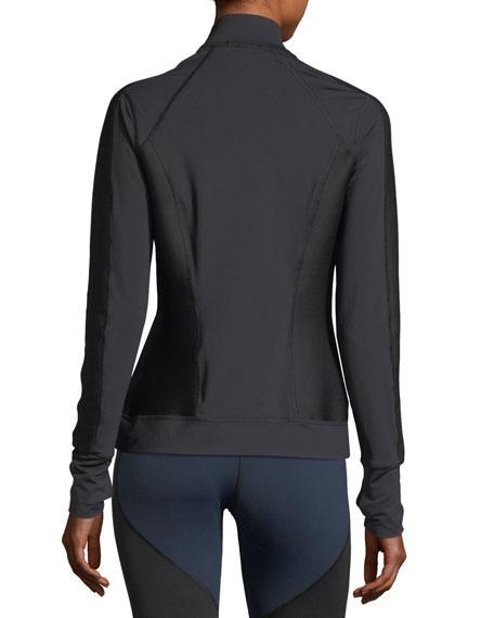 Ignite Mock-Neck Zip-Front Performance Jacket
