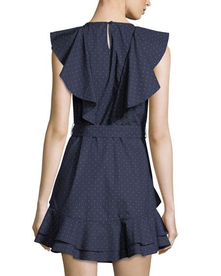 Malachy Ruffled Pindot Dress