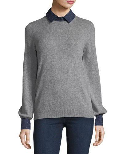 Bahiti Wool/Cashmere Twofer Sweater