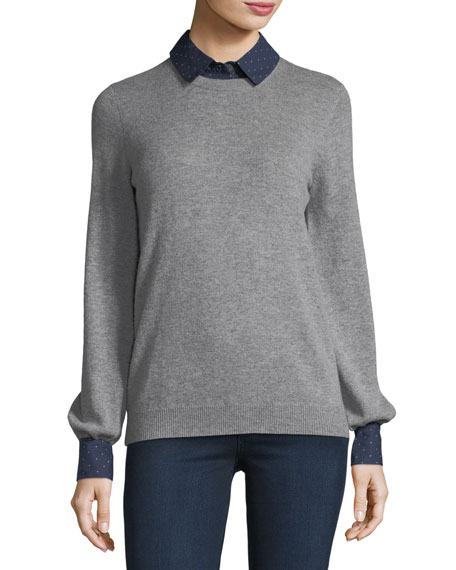 Joie Bahiti Wool/Cashmere Twofer Sweater