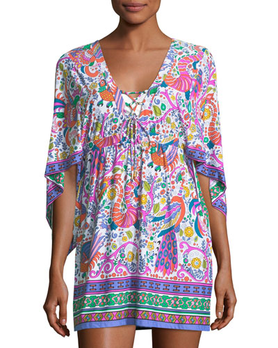 Jungle Beach Printed Coverup Tunic