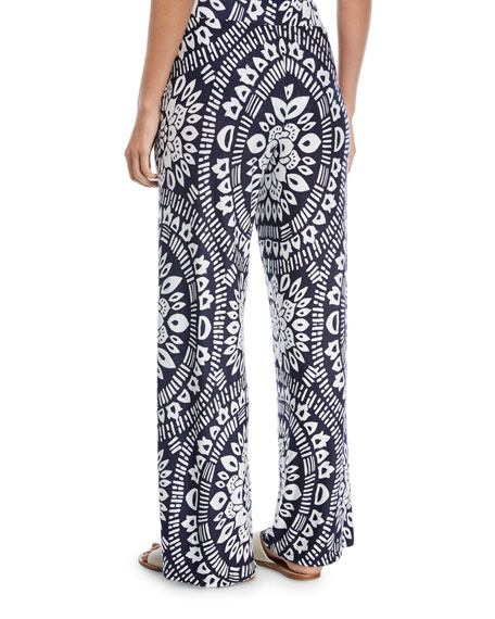 Indochine Printed Wide-Leg Pants