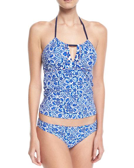 Talavera Honey Printed Halter Tankini Swim Top