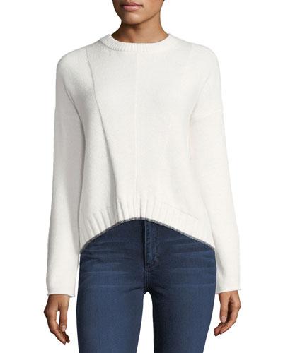Joanna Crewneck Wool-Cashmere Sweater