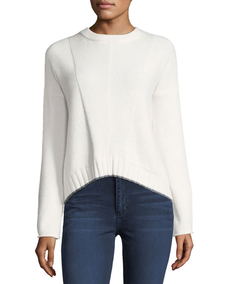 Joanna Crewneck Wool-Cashmere Sweater