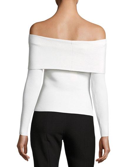 Clara Off-the-Shoulder Long-Sleeve Top