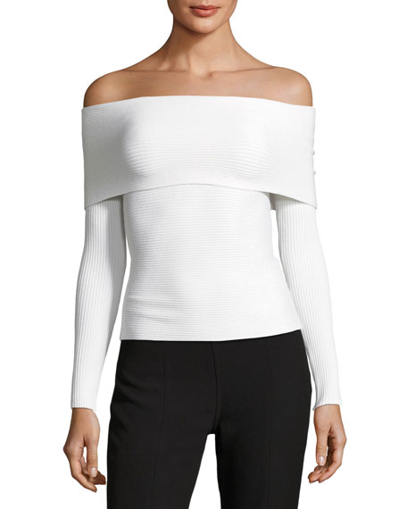 Elizabeth and James Clara Off-the-Shoulder Long-Sleeve Top