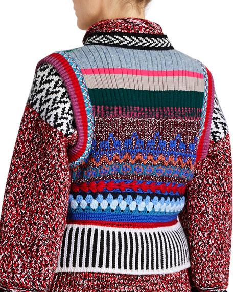 Multi-Blend Hand-Embroidered Vest