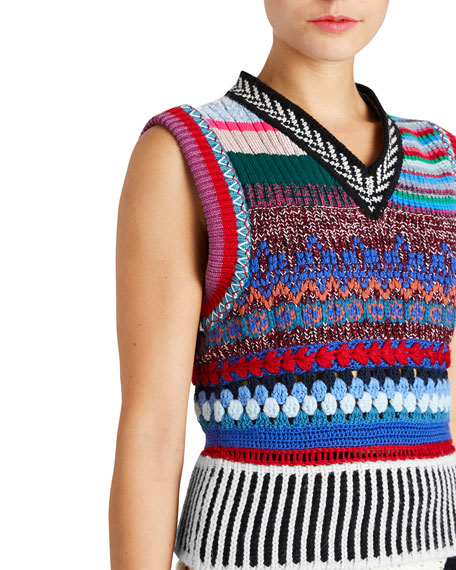 Multi-Blend Hand-Embroidered Vest