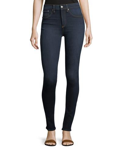 High Rise Skinny Jeans  Dark Blue