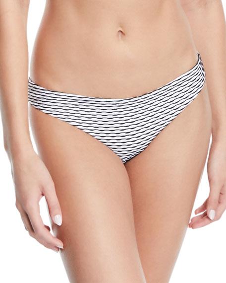 Onia Danni Wave-Stripe Triangle Bikini Top and Matching