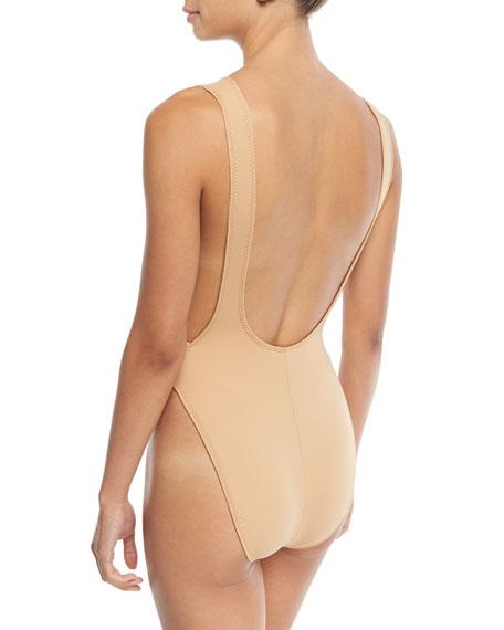 Marissa Scoop-Neck High-Cut Solid One-Piece Swimsuit