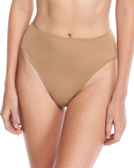 Norma Kamali Underwire High-Waist High-Cut Swim Bottoms