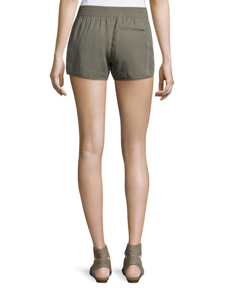 Beso Smocked Linen Shorts