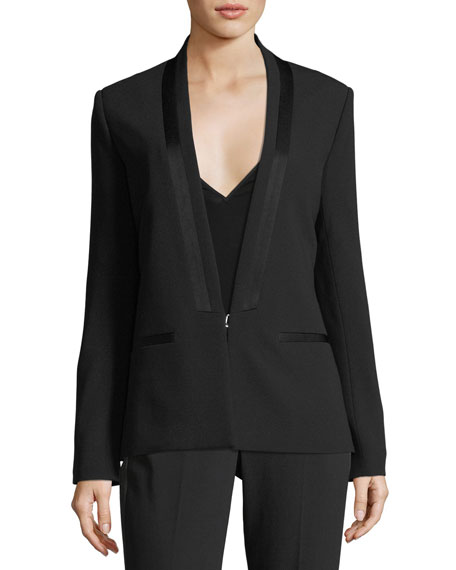 Tuxx Hook-Front Tailored Blazer