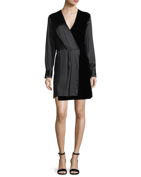 Rag & Bone Victor V-Neck Wrap Silk Short