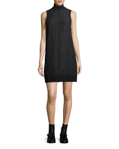 Sofiya Turtleneck Sleeveless Lace Dress