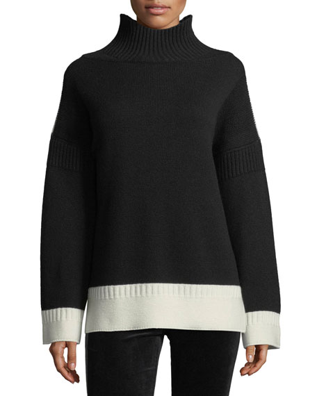 Rag & Bone Aubree Funnel-Neck Cashmere Pullover Sweater