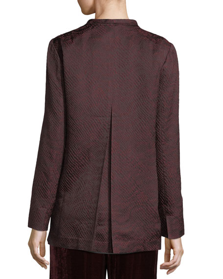 Silk-Blend Jacquard Wave Jacket