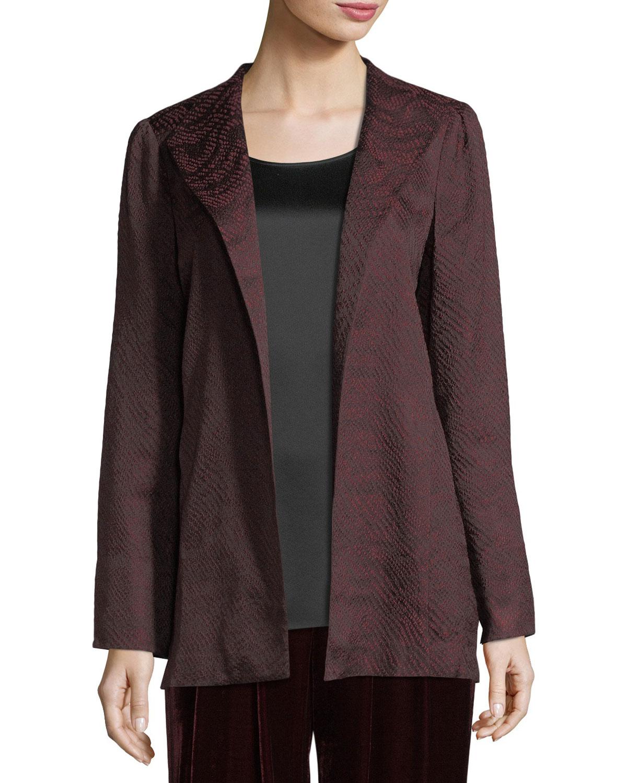 Eileen Fisher Silk Blend Jacquard Wave Jacket Neiman Marcus