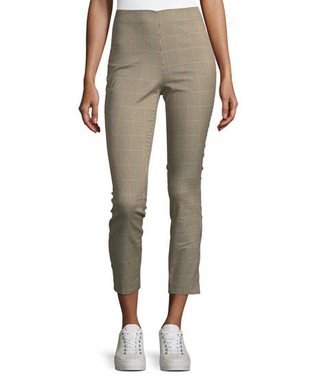 Rag & Bone Simone Plaid Skinny-Leg Cropped Pants
