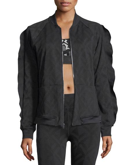 Koral Activewear Glance Jacquard Bomber Jacket