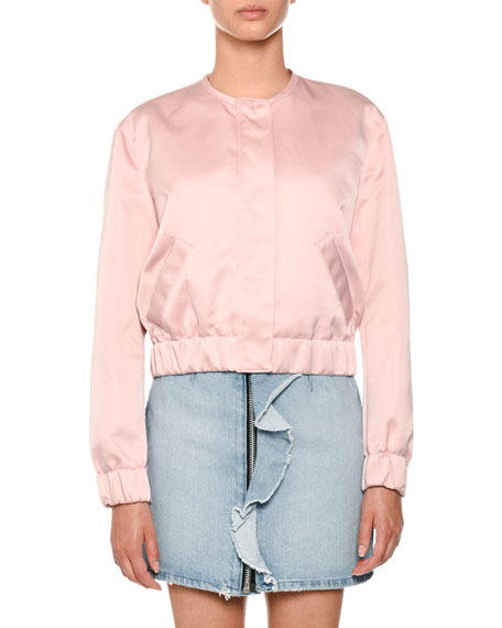 MSGM Zip-Front Denim Skirt and Matching Items