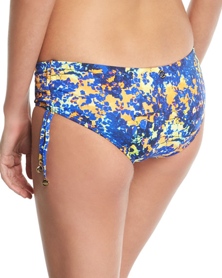 Printed Hipster Full-Bottom Bikini Bottoms