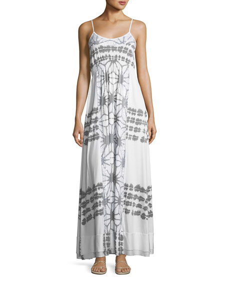 Letarte Scoop-Neck Printed Maxi Dress