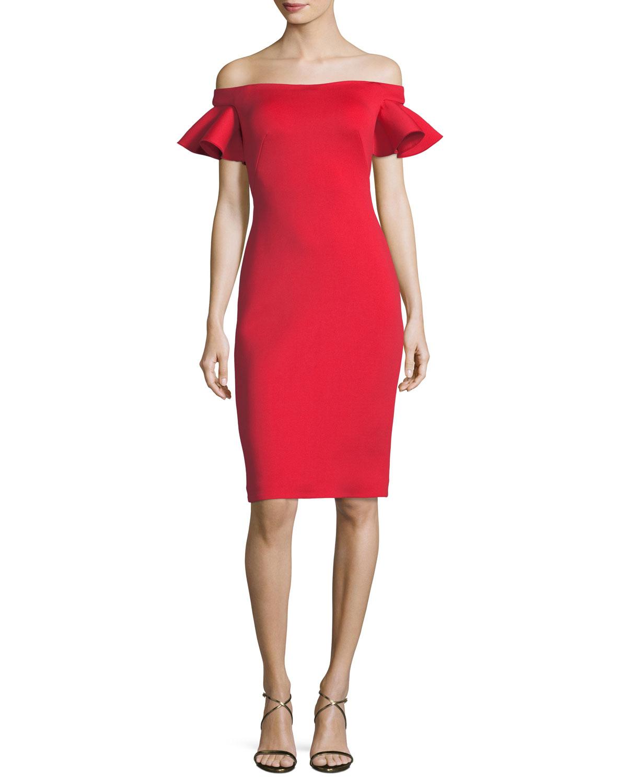 Cap Sleeve Cocktail Dress | Neiman Marcus