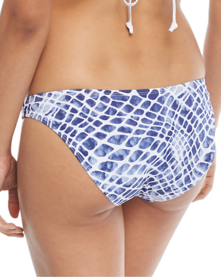 Printed Hipster Moderate Coverage Swim Bottom